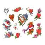 Heart Tattoo Designs Volume-4